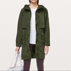 Lululemon Graced With Lace Jacket dark olive nwt